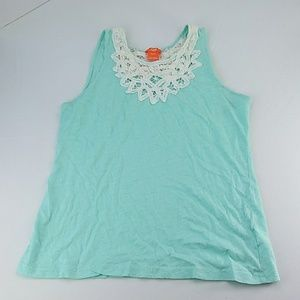 Joe fresh tank top size medium embroided